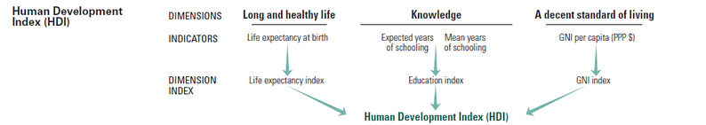 The underlying principle behind the Human Development Index.[5]