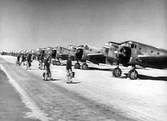 Bombardier cadets in training with AT-11s at Kirtland, 1943