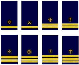 Navy officer designators used by the Kriegsmarine during the Second World War *Engineering (Ing.) Leutnant zur See (comparable to OR-1b, NATO) *Weapons (W.) *Coastal Artillery (M.A.) Oberleutnant zur See (OR1-a) *Mine Warfare (W.) *Signals (N.T.) Kapitänleutnant (OR-2) *Torpedoman (T.) *Medical (S.) Marineoberstabsarzt (OF-3) *Administration (V.)