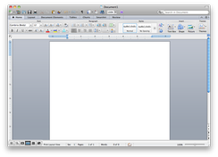 Microsoft Word 2011 running on OS X