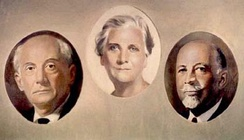 Founders of the NAACP: Moorfield Storey, Mary White Ovington and W.E.B. Du Bois.