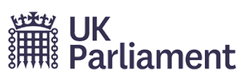 The logo of the UK Parliament, since 2018.