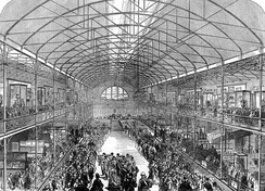 The official opening of the Bethnal Green Museum by the Prince of Wales in 1872.