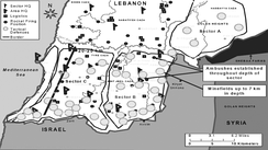 "War map, ""Hezbollah Defensive System in Southern Lebanon"", 2006"