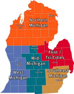 Regions in the Lower Peninsula.