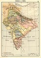 Map of India in 1805.