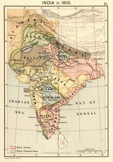 Indian subcontinent in 1805 CE.