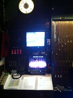 The backstage control room