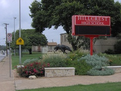 Hillcrest High School serves a small section of Vickery Meadow