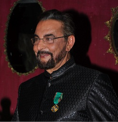 Kabir Bedi after receiving his knighthood.