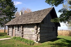 Little House replica at the Little House Wayside, 2007