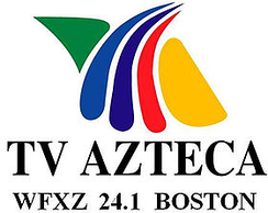WFXZ-CD logo under its second Azteca América affiliation