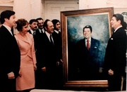 Presentation of Americo Makk Portrait to President Reagan, 1984