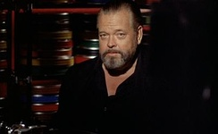Orson Welles in F for Fake (1974), a film essay and the last film he completed.