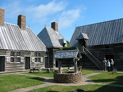 The replica at Port-Royal National Historic Site