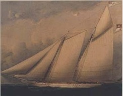 The Liverpool Packet, one of many privateer schooners that were based in Nova Scotia during the war.
