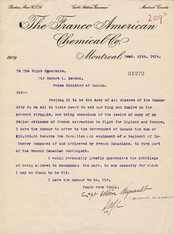 Mignault communicated with Prime Minister Robert Borden, leading to the creation of the Royal 22e Régiment