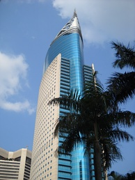 Wisma 46 in post-modernist architecture, currently fourth tallest building in Jakarta.