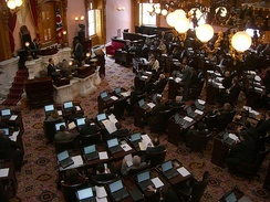 The House of Representatives Chamber of the Ohio Statehouse
