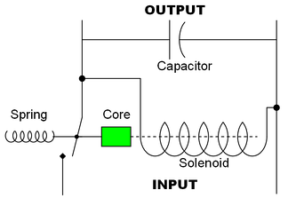Circuit design for a simple electromechanical voltage regulator.