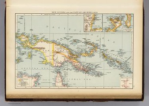 Map of New Guinea, Papuan Archipelgao, 1895[1]
