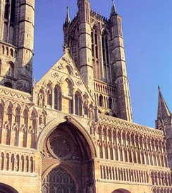 Norman West Front of Lincoln Cathedral