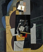 1913–14, L'Homme aux cartes (Card Player), oil on canvas, 108 × 89.5 cm, Museum of Modern Art, New York