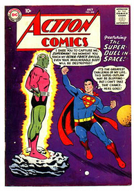 Brainiac's first appearance in Action Comics #242 (July 1958); art by Curt Swan and Stan Kaye