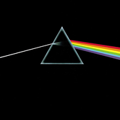 Original album artwork featuring an almost black cover with a triangular prism in the middle. A ray of white light enters the prism from the left and is refracted into colours as it comes out the right side.