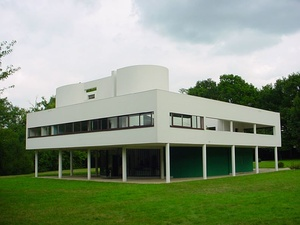 The Villa Savoye in Poissy by Le Corbusier (1928–31)