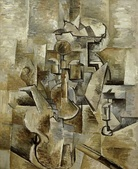 Georges Braque, 1910, Violin and Candlestick, oil on canvas, 60.96 x 50.17 cm, San Francisco Museum of Modern Art