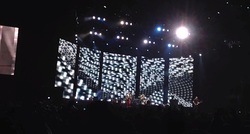 Muse performing with their festival stage set for the first time