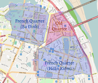 Approximation of Hanoi's Old Quarter and French Quarters
