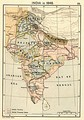 Map of India in 1848.