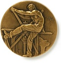 The AIGA medal was designed by James Earle Fraser in 1920.