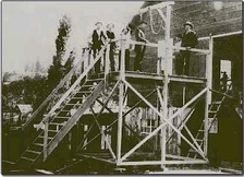 A hanging that took place in Nevada. Hanging was the method used for most executions before that of Gee Jon in 1924.