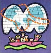 "1964 World's Fair ""It's a Small World"" ticket, logo portion"