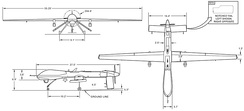 MQ-1B Predator 3-view drawing