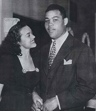 Joe Louis with Jean Anderson, Chicago, 1947