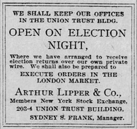 Notice in The Baltimore Sun in advance of the 1908 presidential election