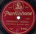 Early 20th century Parlophone record label of the 78rpm acoustic era