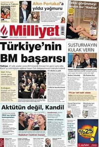 Milliyet Front Page.jpg