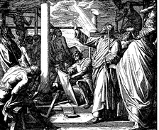 Depiction of Solomon directing his builders.