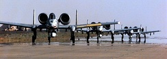 A-10s on the flightline.
