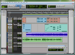 Pro Tools 9 running on Windows