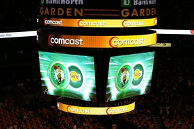Scoreboard at a Celtics game vs the Los Angeles Lakers at then-TD Banknorth Garden (2007)
