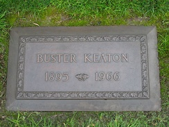 Keaton's grave at Forest Lawn Memorial Park, Hollywood Hills