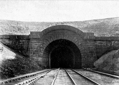 The north entrance to Shildon Tunnel, which opened in 1842