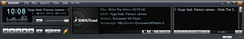 Winamp 5.621, when listening to the SHOUTcast stream