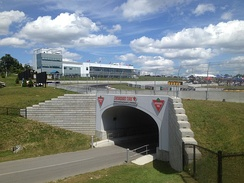 Tunnel, Whites Corner – Turn 10 and Event Centre.